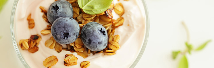 Fruit and Granola in Yogurt